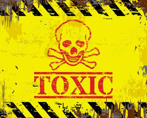 Toxic Enamel Sign Fotobehang
