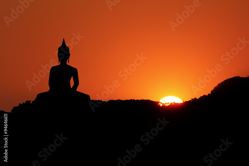 Poster Cuban Red Sunset and Buddha