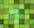 Vector background composed of squares in different shades of green