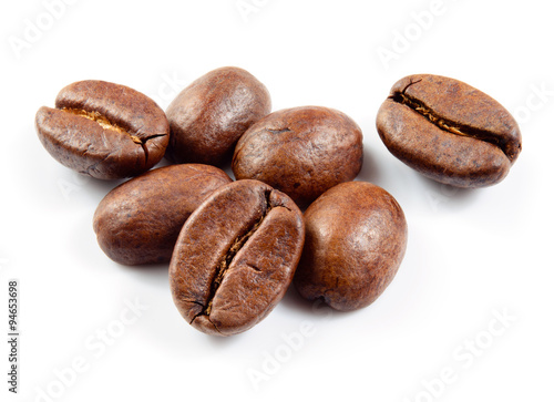 Coffee beans isolated - 94653698