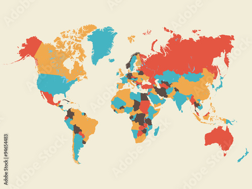 Colorful world map illustration buy this stock vector and explore colorful world map illustration gumiabroncs Gallery