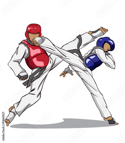 Taekwondo. Martial art Canvas Print