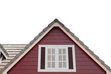 Gable Of The House Isolated Ob...
