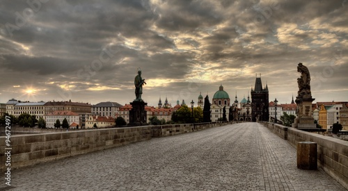 Fotobehang Praag Charles Bridge in Prague, Czech Republic