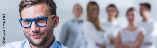 Fotografie, Obraz  Handsome trendy businessman