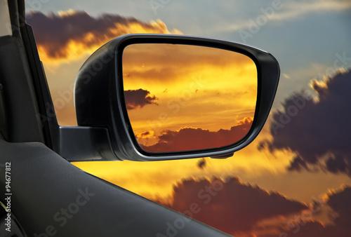 espejo del coche
