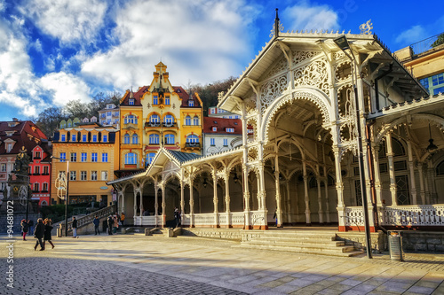 Photo  Carlsbad, the famous spa city in western Bohemia, very popular t
