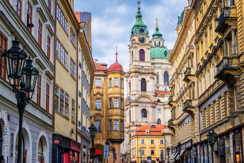 Printed kitchen splashbacks Prague Historical baroque buildings in the center of Prague, Czech Repu