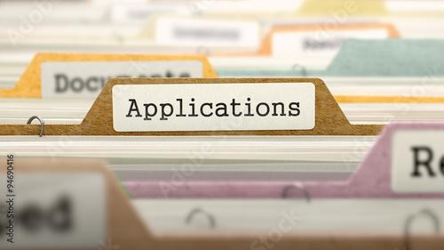 Applications - Folder Name in Directory. Wallpaper Mural