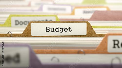 Fotografía  File Folder Labeled as Budget.