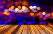 canvas print picture - image of  blurred bokeh background with colorful lights (blurred
