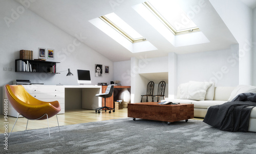 Modern Apartment Decor – kaufen Sie diese Illustration und finden ...