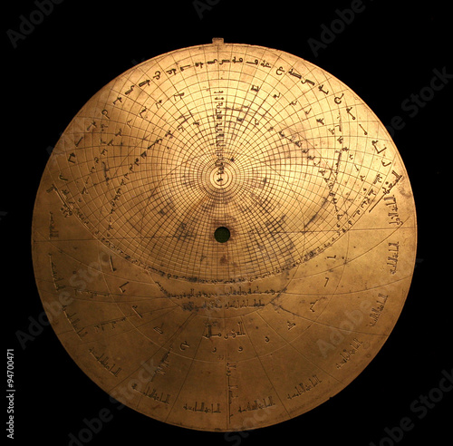 Medieval arabic astrolabe Canvas Print