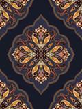 Bezszwowy Paisley wzór. Ozdobne tło do tapety, zawijanie - 94700658
