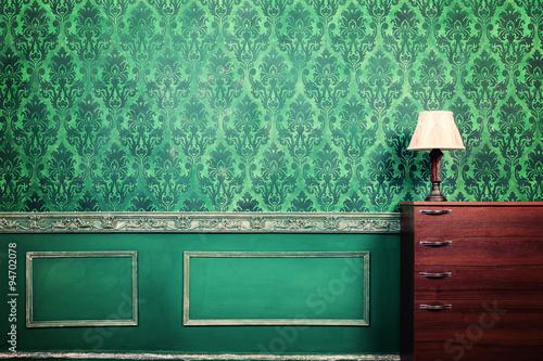 Foto op Plexiglas Retro Vintage lamp in rococ interior