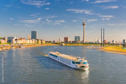 Tela  Dusseldorf  in a sunny summer day