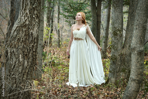a1f851ab2 Beautiful Fairy lady wearing white dress in the forest - Buy this ...
