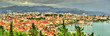 Panorama of Split, the second-largest city of Croatia