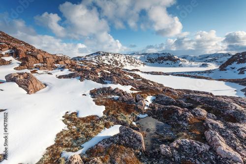 Papiers peints Arctique Evening on the coast