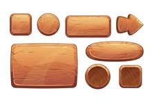 Cartoon Wooden Game Assets
