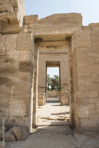 Entrance to the temple at Medinat Habu #94715694