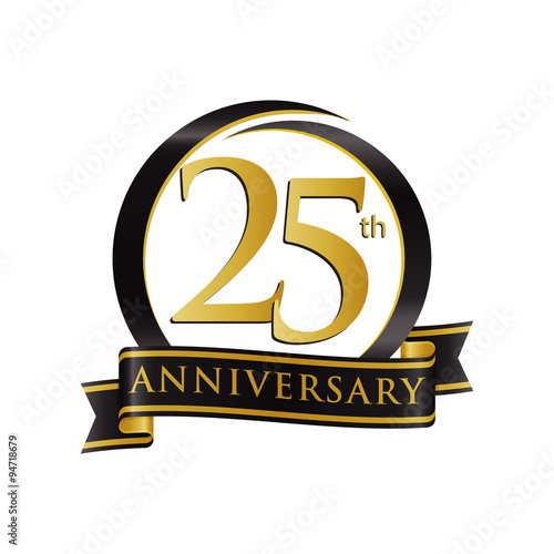 Poster  Anniversary Logo Black Gold 25
