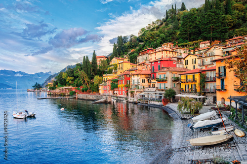 Photo Town of Menaggio on lake Como, Milan, Italy