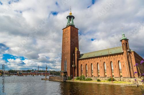 Photo  City Hall castle in Stockholm, Sweden