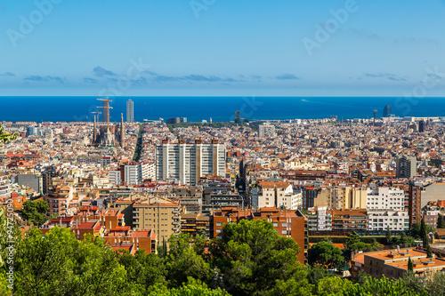 Plakat Panoramiczny widok z Barcelony
