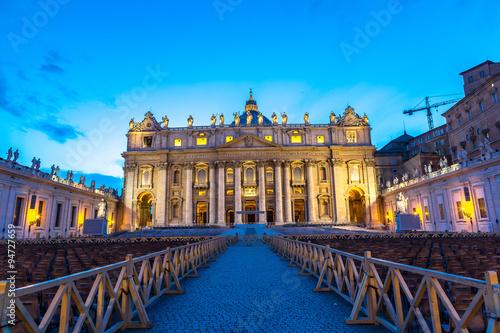 Foto op Plexiglas Chicago Vatican at night