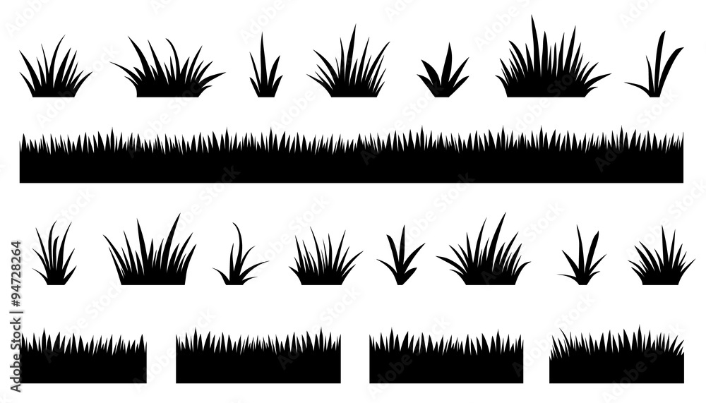 Fototapety, obrazy: grass silhouettes2