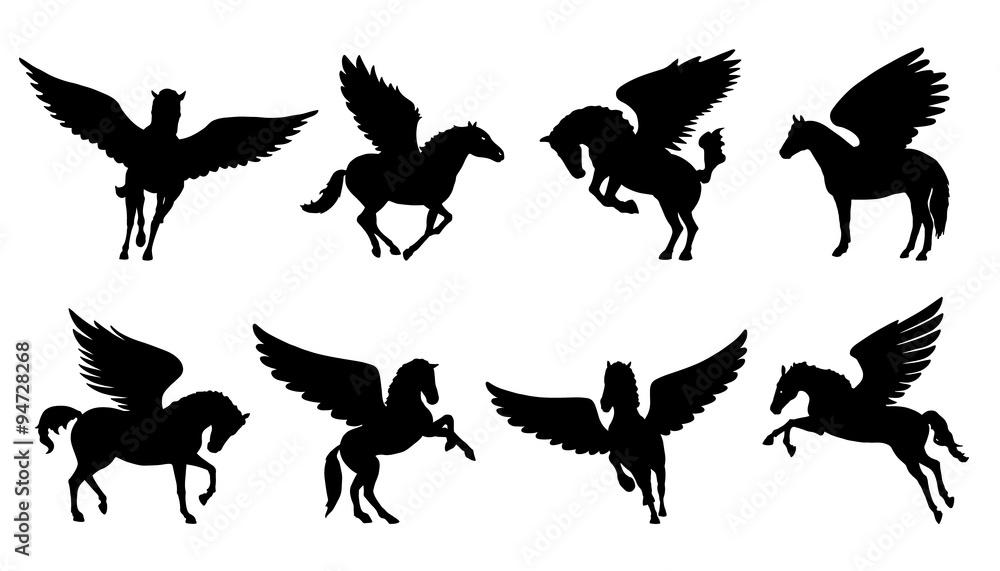 Fotografia pegasus silhouettes