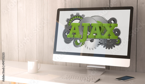 Photo desktop computer ajax