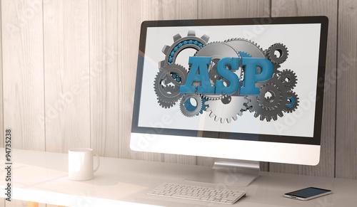 desktop computer asp Canvas Print