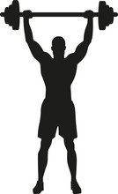 Weight Lifting Bodybuilder Silhouette
