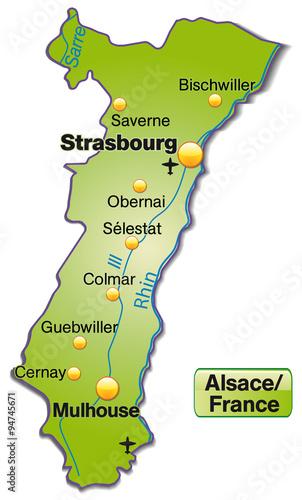 Photo  Karte von Elsass