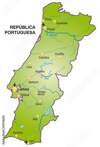 Porto Portugal Karte.Karte Von Portugal Buy This Stock Vector And Explore