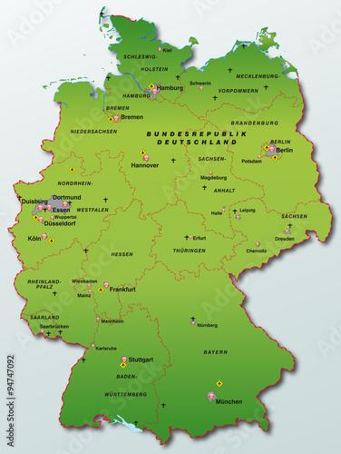 Photo  Karte von Deutschland
