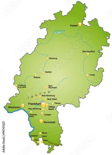 Karte Von Hessen Buy This Stock Vector And Explore Similar