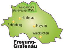 Karte Von Freyung-Grafenau