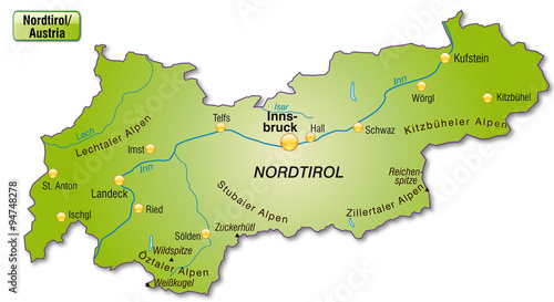 karte tirol Karte von Tirol   Buy this stock vector and explore similar