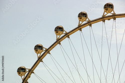 Fotografie, Obraz  Close-up of The High Roller Wheel at dawn