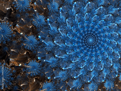 Abstract digitally generated image swirl