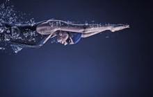 Female Swimmer. Concept Image
