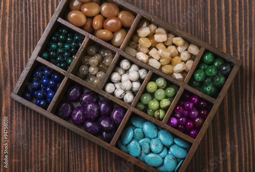 Box of gemstones