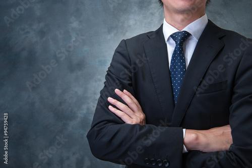腕を組むビジネスマン Canvas Print