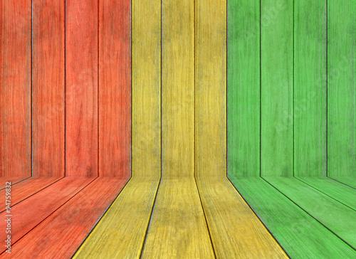 Fotomural El color reggae y el suelo de madera de textura de fondo
