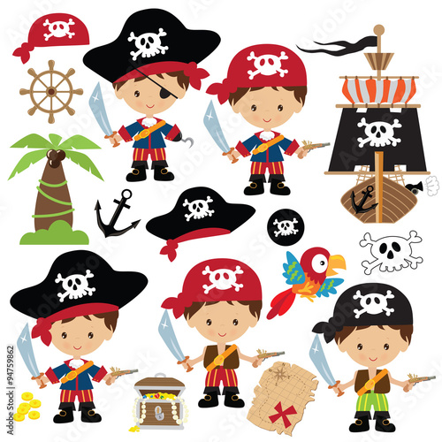 Fotografie, Obraz  Pirate vector illustration