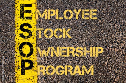 Fotografie, Obraz  Business Acronym ESOP as Employee Stock Ownership Program