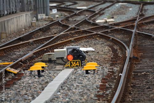 Fotografie, Obraz  アムステルダム中央駅付近のレール